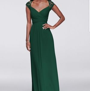 Long green bridesmaid dress new with tags size 10